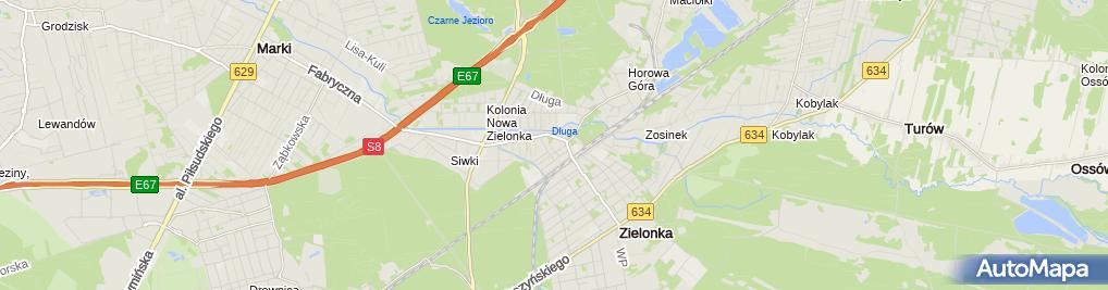 Zdjęcie satelitarne Matki Bożej Częstochowskiej