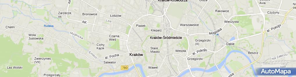 Zdjęcie satelitarne św. Kazimierza Królewicza - Reformaci