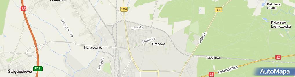 Zdjęcie satelitarne Św. Maksymiliana Marii Kolbego