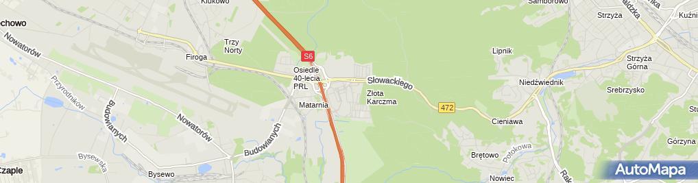 Zdjęcie satelitarne św. Rafała Kalinowskiego