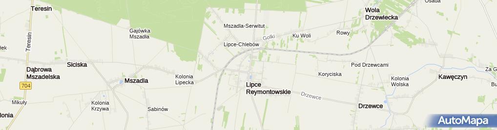 Zdjęcie satelitarne Znalezienia Krzyża Świętego