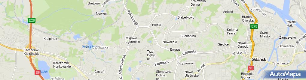 Zdjęcie satelitarne Sąd Rejonowy Gdańsk-Północ