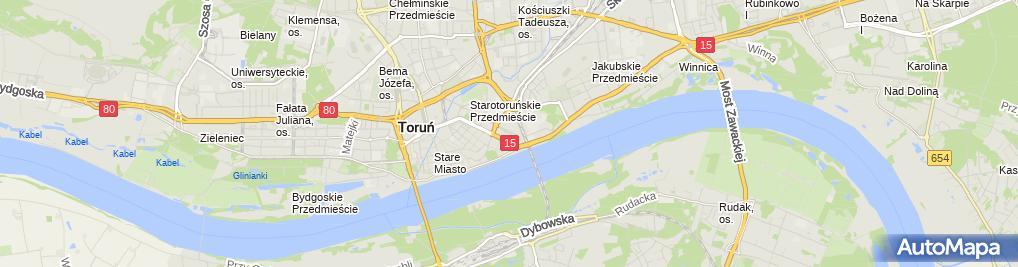 Zdjęcie satelitarne Sąd Rejonowy - I Wydział Cywilny