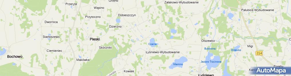 Zdjęcie satelitarne Dworek na Błotach