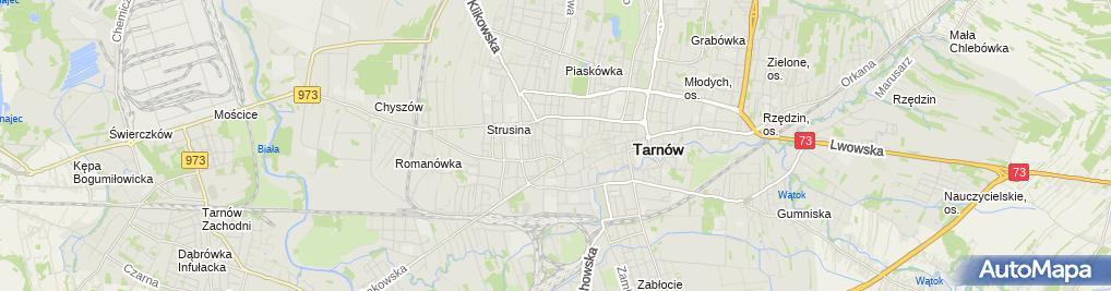 Zdjęcie satelitarne TSM - Tarnowska Spółdzielnia Mieszkaniowa