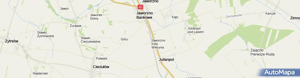 Zdjęcie satelitarne Jaworzno k/Wielunia