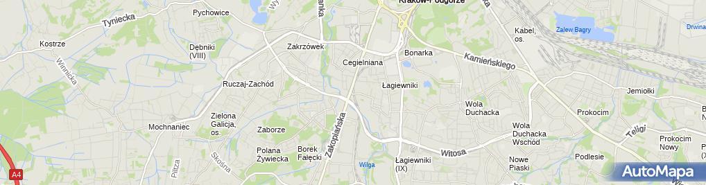 Zdjęcie satelitarne Kraków Łagiewniki