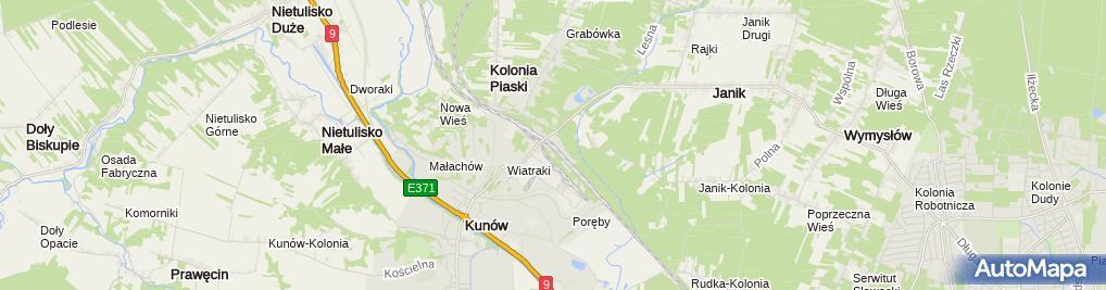 Zdjęcie satelitarne Kunów