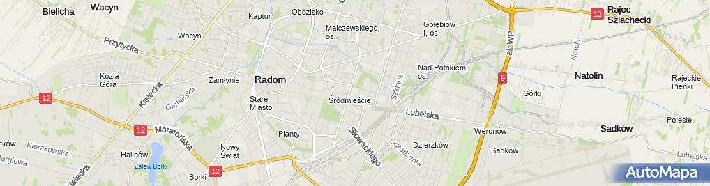 Zdjęcie satelitarne Samochodówka