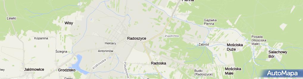Zdjęcie satelitarne Stacja Kontroli Pojazdów