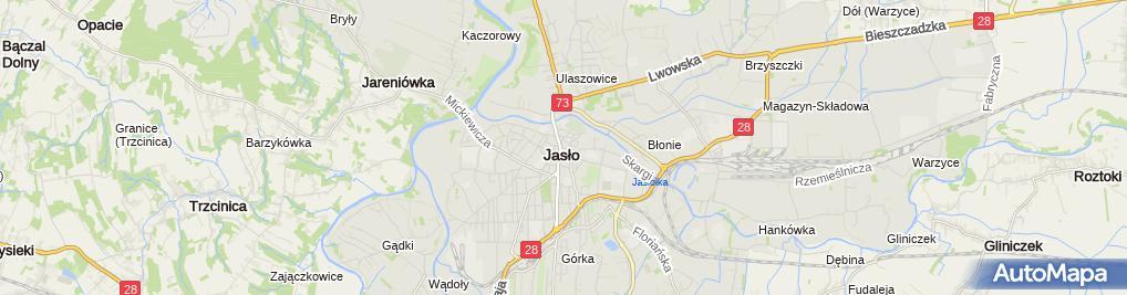 Zdjęcie satelitarne Starostwo Powiatowe w Jaśle