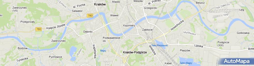 Zdjęcie satelitarne Starostwo Powiatowe / Wydział Geodezji, Kartografii i Katastru
