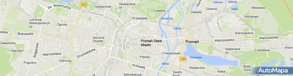 Zdjęcie satelitarne Komenda Wojewódzka Państwowej Straży Pożarnej