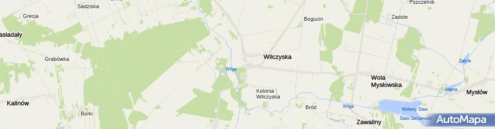 Zdjęcie satelitarne OSP Wilczyska