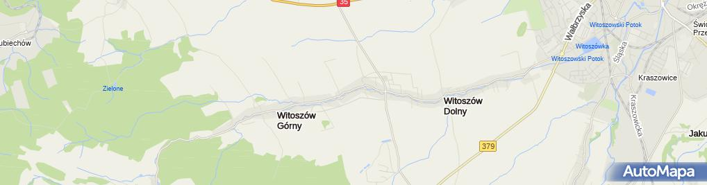 Zdjęcie satelitarne OSP Witoszów Dolny
