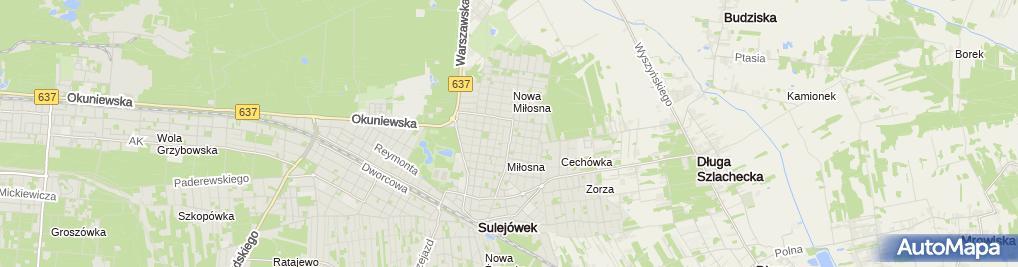 Zdjęcie satelitarne Strzelnica Parabellum Sulejówek