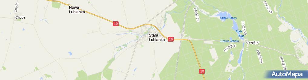 Zdjęcie satelitarne Szkoła Podstawowa w ZS w Starej Łubiance