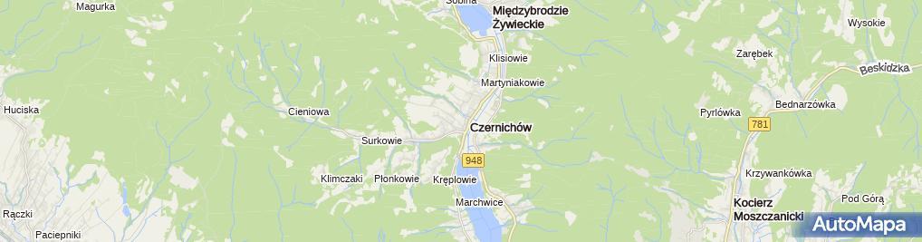 Zdjęcie satelitarne Szkoła podstawowa