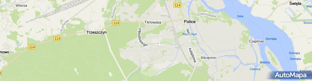 Zdjęcie satelitarne Zespół Szkół im.Ignacego Łukasiewicza