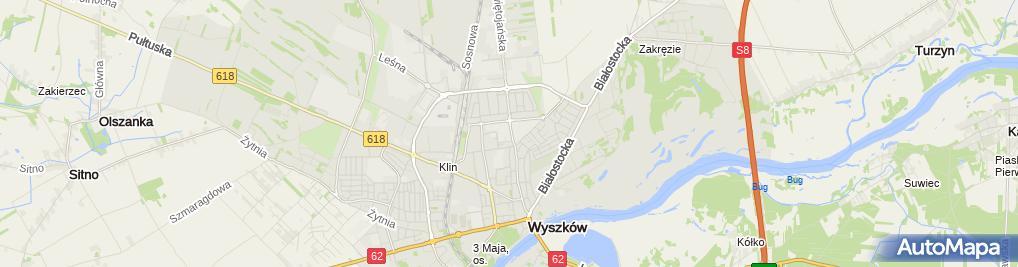 Zdjęcie satelitarne Zespół Szkół Nr 1 im. Marii Skłodowskiej-Curie