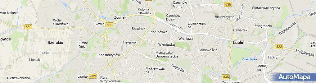 Zdjęcie satelitarne 1 Szpital Wojskowy