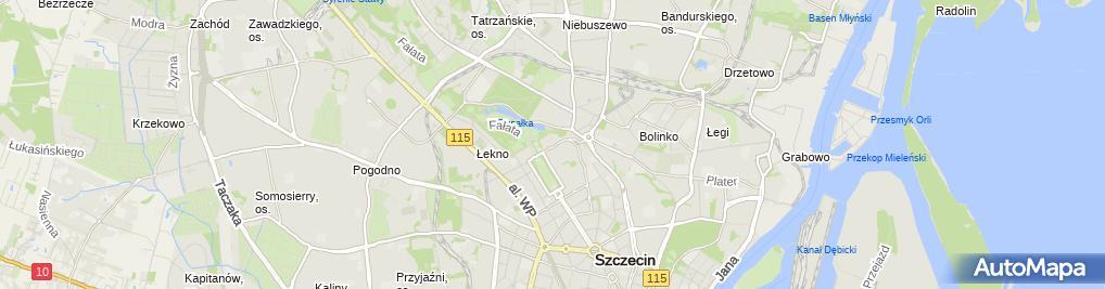 Zdjęcie satelitarne 109 Szpital Wojskowy