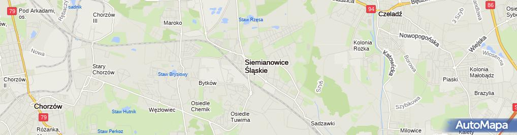 Zdjęcie satelitarne Centrum Leczenia Oparzeń