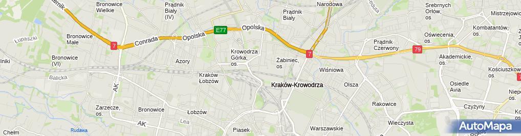 Zdjęcie satelitarne Specjalistyczny Szpital Miejski im. Gabriela Narutowicza