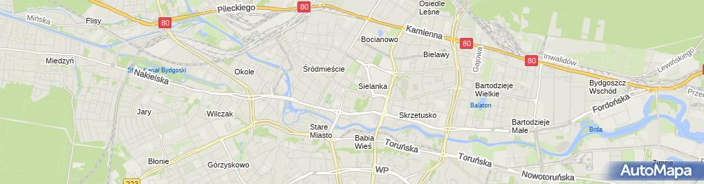 Zdjęcie satelitarne Szpital MSWiA