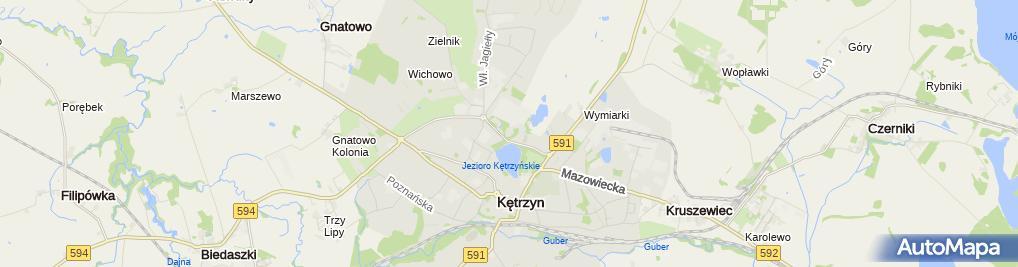 Zdjęcie satelitarne Szpital Powiatowy