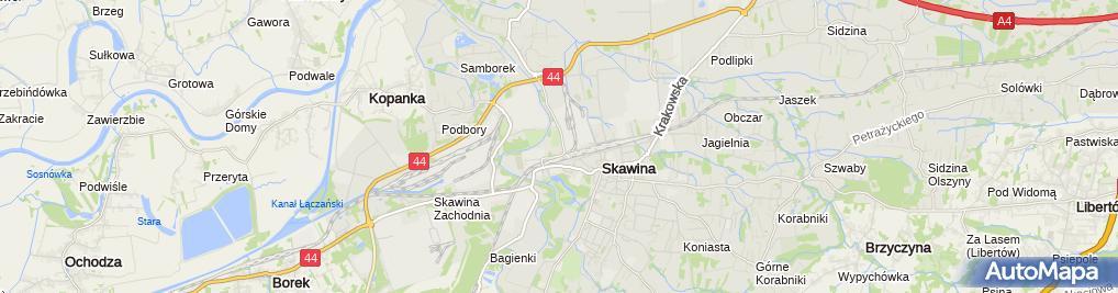 Zdjęcie satelitarne Szpital Skawina sp. z o.o. im. Stanley Dudricka