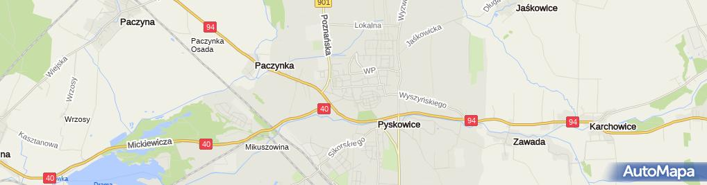 Zdjęcie satelitarne Szpital w Pyskowicach sp. z o. o.