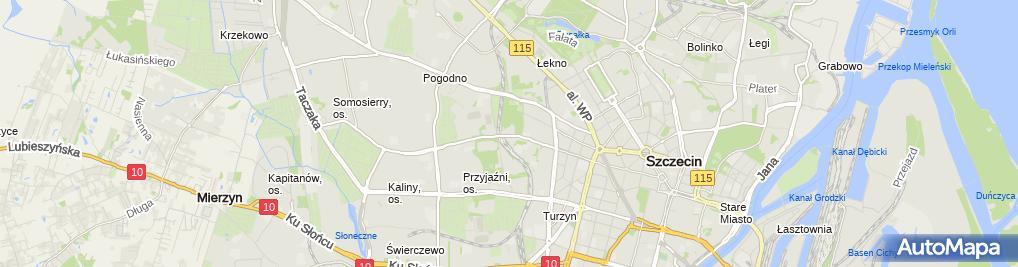 Zdjęcie satelitarne Szpital ZOZ MSWiA