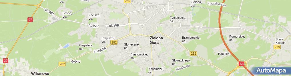 Zdjęcie satelitarne Targowisko Miejskie