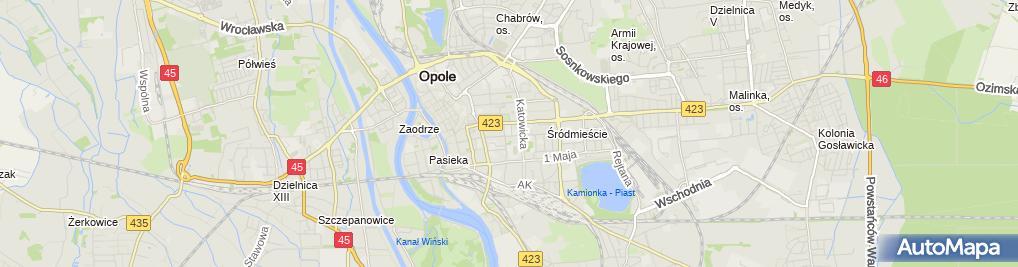 Zdjęcie satelitarne Nr 5 w ZS  Elektrycznych im. gen. Tadeusza Kościuszki
