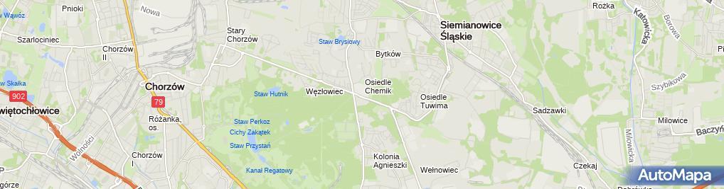 Zdjęcie satelitarne TVP S.A. o/Katowice