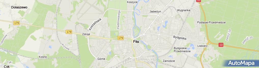 Zdjęcie satelitarne GSU Ubezpieczenia Oddział Piła