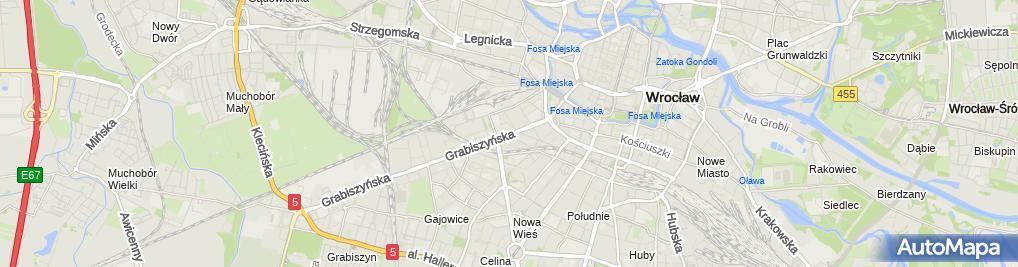 Zdjęcie satelitarne Urząd Dozoru Technicznego Oddział we Wrocławiu