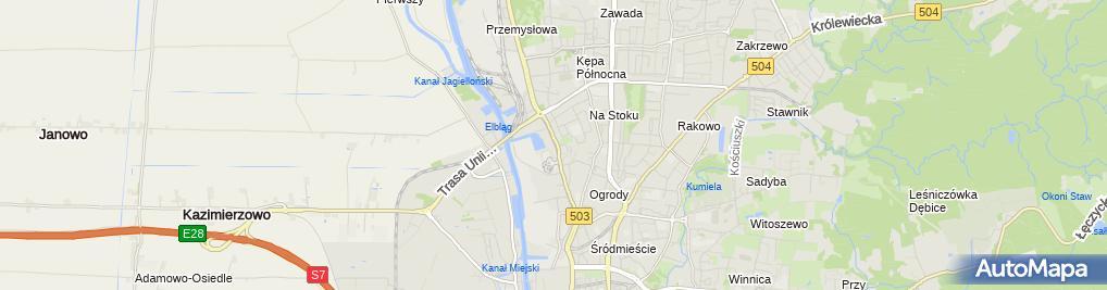 Zdjęcie satelitarne Urząd Gminy