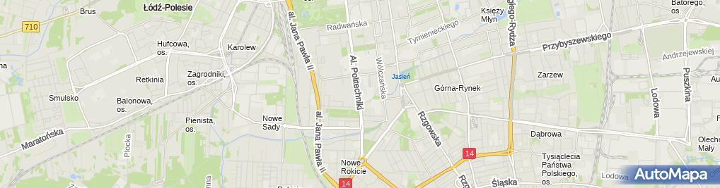 Zdjęcie satelitarne Urząd Miasta Delegatura Łódź - Górna
