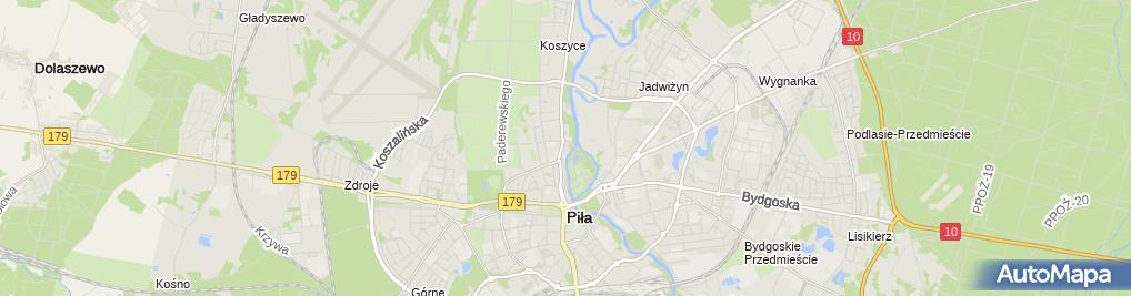 Zdjęcie satelitarne Urząd Miasta / Wydział Komunikacji