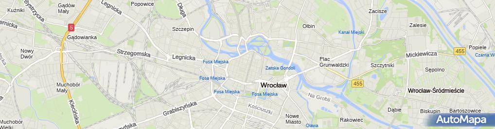 Zdjęcie satelitarne Urząd Miasta Wydział
