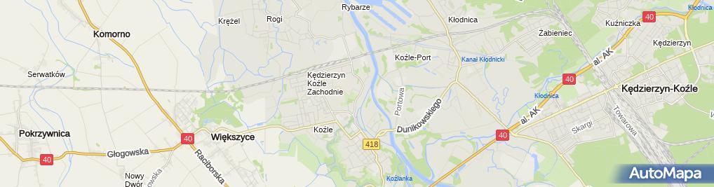 Zdjęcie satelitarne Tauron Polska Energia S.A. POK Kędzierzyn-Koźle