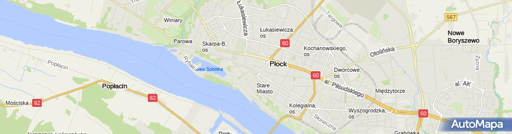 Zdjęcie satelitarne Frydrysiak