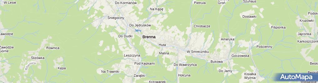Zdjęcie satelitarne Beskidzka 5