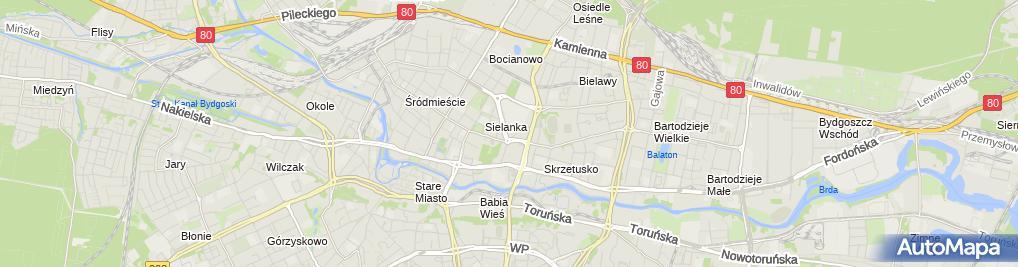 Zdjęcie satelitarne Bydgoszcz Bazylika