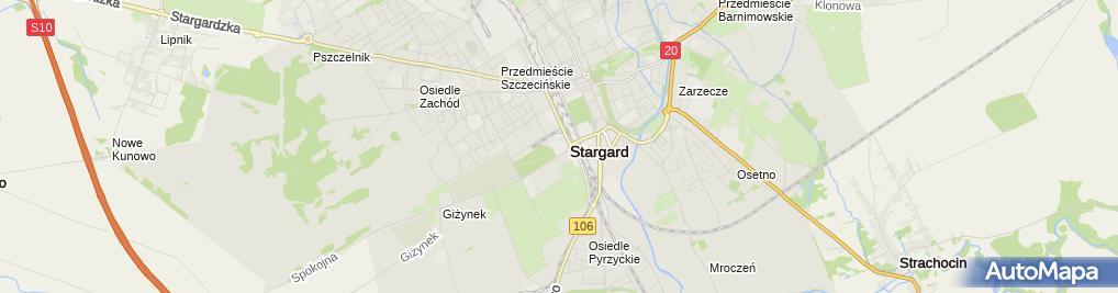 Zdjęcie satelitarne Cukrownia Kluczewo