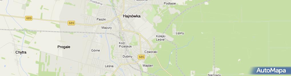 Zdjęcie satelitarne Hajnowka cmentarz katolicki