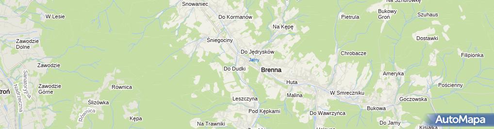 Zdjęcie satelitarne Koniakow 01