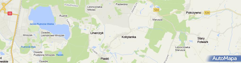 Zdjęcie satelitarne Kosciol Grudziadz Mniszek
